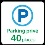 Centre d'affaires : parking privé 40 places