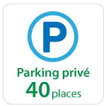 Centre d'affaires : parking privé 40 places