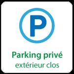 Centre d'affaires Bordeaux Aéroport : parking privé extérieur clos